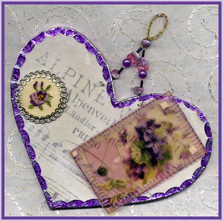 Alpine Violet Heart