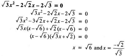 Quadratic Equations Chapter Wise Important Questions Class 10 Mathematics 38