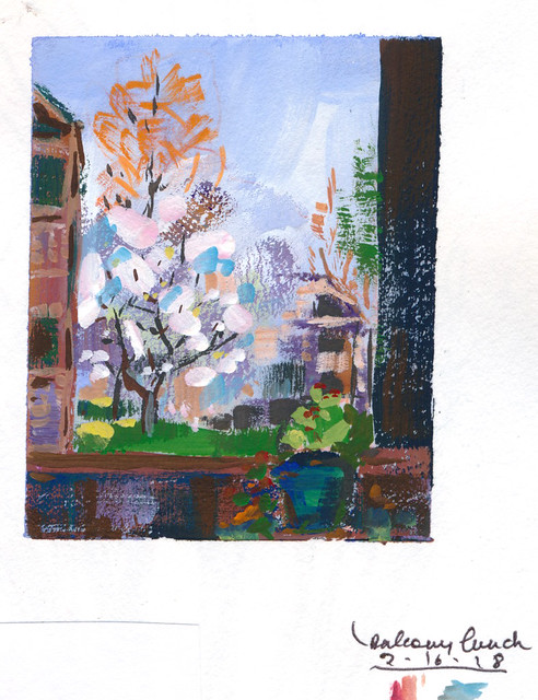 Sketchbook #12: Lunchtime Mini Gouache