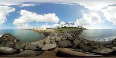 The Keawe Street Canal at the Kaka'ako Waterfront Park in Honolulu -a 360 equirectangular VR