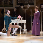 Sense and Sensibility at the Arvada Center - Lance Rasmussen (Edward Ferrars/Robert Ferrars) and Jessica Robblee (Elinor Dashwood) Matt Gale Photography 2018