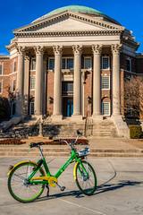 Rideshare Bike Blocks Historic Icon