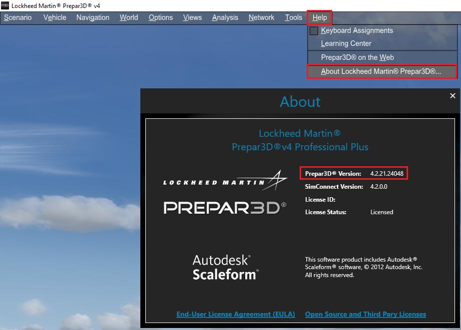 Updating Prepar3D using the Update Component Installers