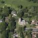 All Saints Church in Sutton near Woodbridge in Suffolk - UK aerial