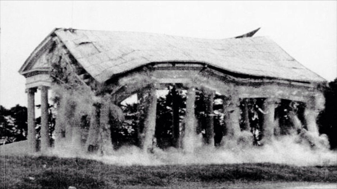 Demolición del templo de Minerva en 1953