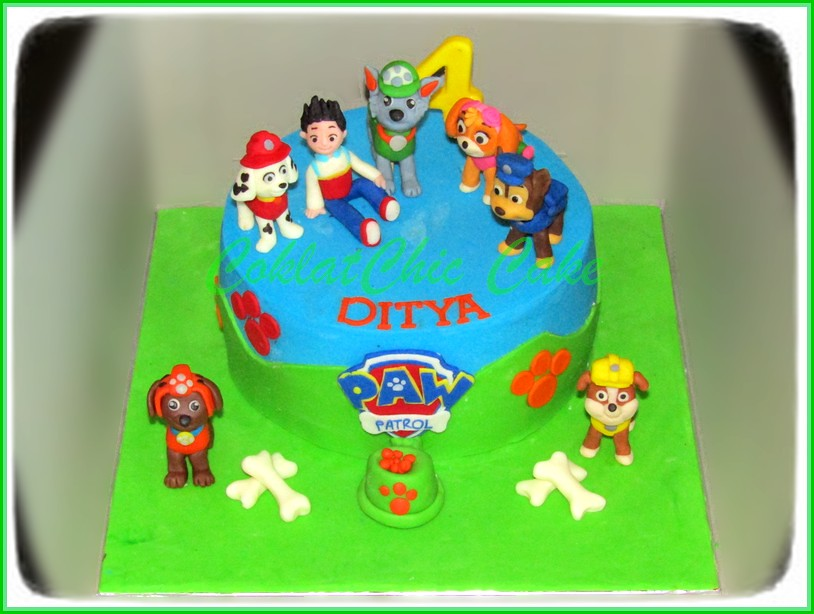 Cake Paw Patrol DITYA 15 cm