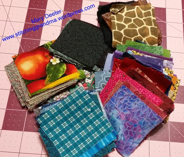 dark and medium 2.5 inch squares