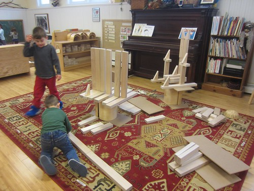 tall towers of blocks