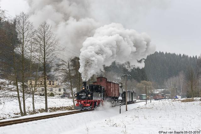 Preßnitztalbahn (3) DR 99 1542-2, 08-03-2016