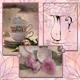 Tea Time Photo Collage