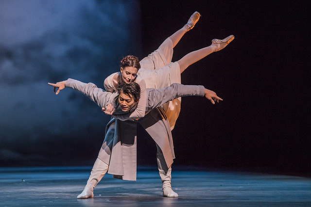 Ryoichi Hirano as Leontes and Lauren Cuthbertson as Hermione in The Winter's Tale, The Royal Ballet. © 2018, ROH. Photographed by Tristram Kenton.