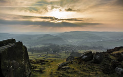 Evening on Curbar Edge