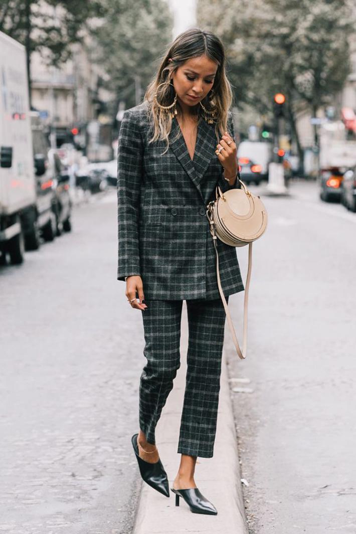 suits street style fashion outft winter 2018 inspiracion looks para ir a trabajar7