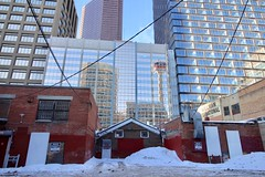Calgary Tower reflections