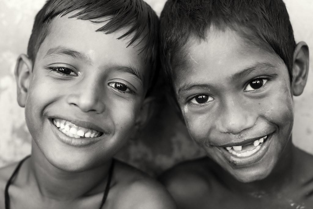 Bangladesh, happy boys in Barisal