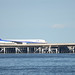 ANA B777 JA752A on Bridge to D-runway of Haneda Airport