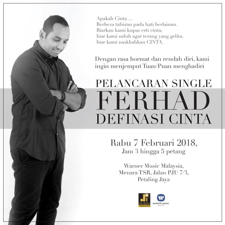 E-Invite_Jemputan Ke Majlis Pelancaran Single 'Definasi Cinta' oleh Ferhad