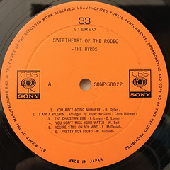 THE BYRDS:THE SWEET HEART OF THE RODEO(LABEL SIDE-A)