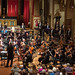 DSCN0079right Ealing Symphony Orchestra bow after performing Appalachia: The Song of the High Hills by Frederick Delius. Conductor John Gibbons, leader Peter Nall. Ealing Festival Chorus. Keel Watson baritone, Gweneth-Ann Rand soprano. 10th February 2018