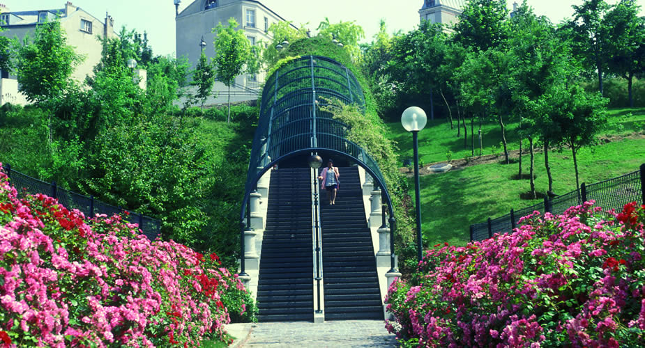 Hippe wijk in Parijs, Belleville: Parc de Belleville | Mooistestedentrips.nl