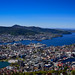 City Center and North Sea viewed from Mt Fløyen Bergen Norway
