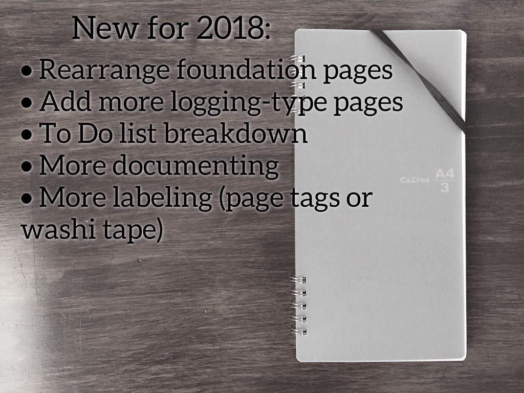 bujo New 2018