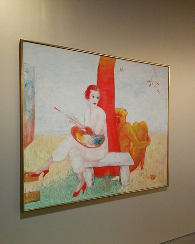 """Self-Portrait with Palette (Painter and Faun)"""", 1910s #toronto #artgalleryofontario #florinestettheimer #stettheimerago"
