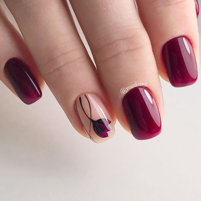 40 Gorgeous Maroon Color Nails Designs Fashionre