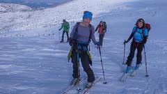 Najlepszy zespół żenski - Iwona i Ola.  Przełęcz Pohane Misko, wysokość 1770m, zawody. Dzień 2.