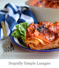 Stupidly Simple Lasagne