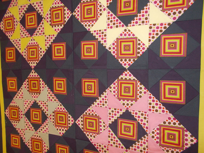 Close up of challenge quilt by Sandi Walton at Piecemeal Quilts