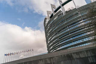Outside view of the European Parliament in Strasbourg