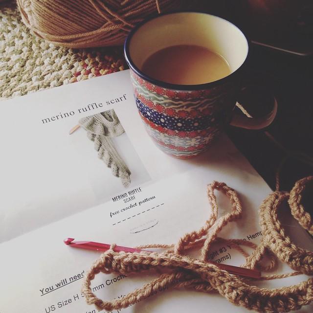 Sundays are for coffee & crochet