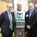 Reps. Carney and Vail join Hartford Whalers' Bob Crawford (played from '83-'86 in Hartford).