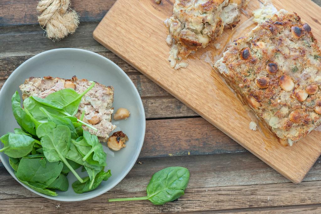 Sausage & Macadamia Stuffing Loaf-3