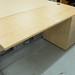 Ex demo maple desk with fixed ped E140
