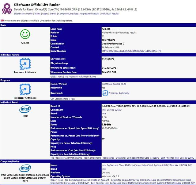 Intel-10nm-Cannonlake-Core-i5-8269U