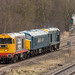 GBRf Class 20's no's 20132 & 20107 with Class 45/1 no 45118 at Clay Cross on 06-03-2018 with a move from Derby to Barrow Hill by kevaruka