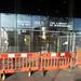 Revolving door repairs at the Library of Birmingham