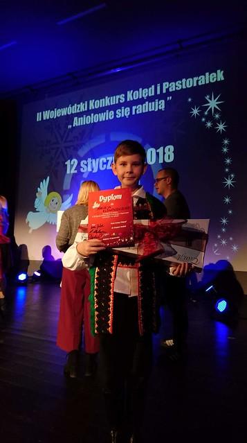 Maciej Klonoski laureatem II Wojewódzkiego Konkursu Kolęd i Pastorałek