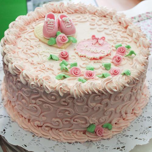 Torta tradicional con Fondant - Babyshower