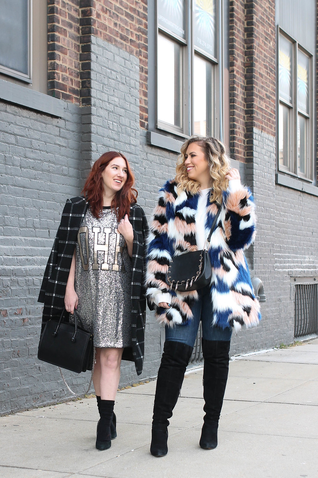The Statement Pieces You Should Have In Your Closet Sequin Dress Colorful Faux Fur Coat New York Blogger Street Style