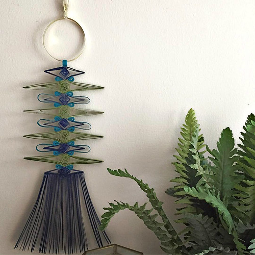 Mid Century Modern Paper Macrame Wall Hanging by Griffin Carrick