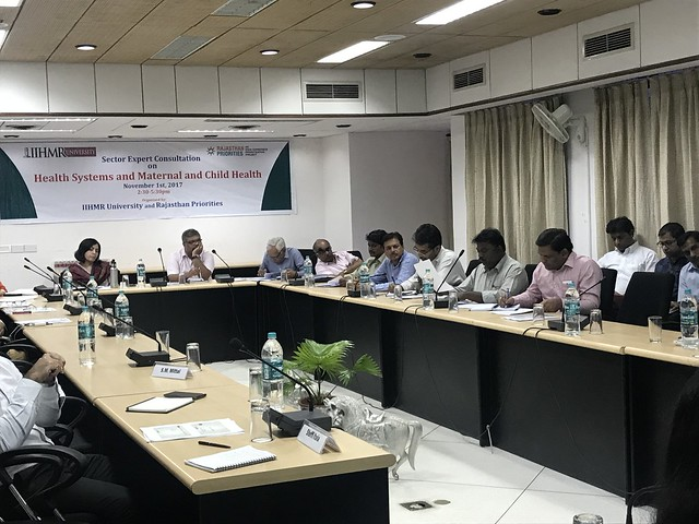 Rajasthan Priorities: Sector Expert Consultation on Health System, Maternal and Child Health