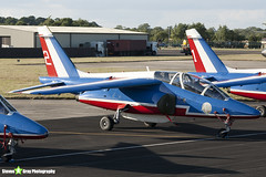 E114 2 F-TERR - E114 - Patrouille de France - French Air Force - Dassault-Dornier Alpha Jet E - RIAT 2010 Fairford - Steven Gray - IMG_7367