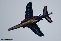 E166 3 F-UHRW - E166 - Patrouille de France - French Air Force - Dassault-Dornier Alpha Jet E - RIAT 2014 Fairford - Steven Gray - IMG_3340