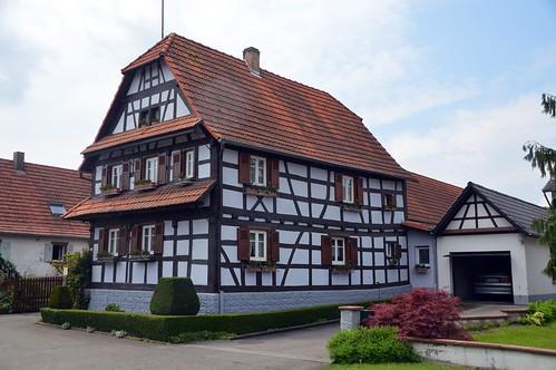 Fachwerkhäuser in Hohwiller ( Elsass )