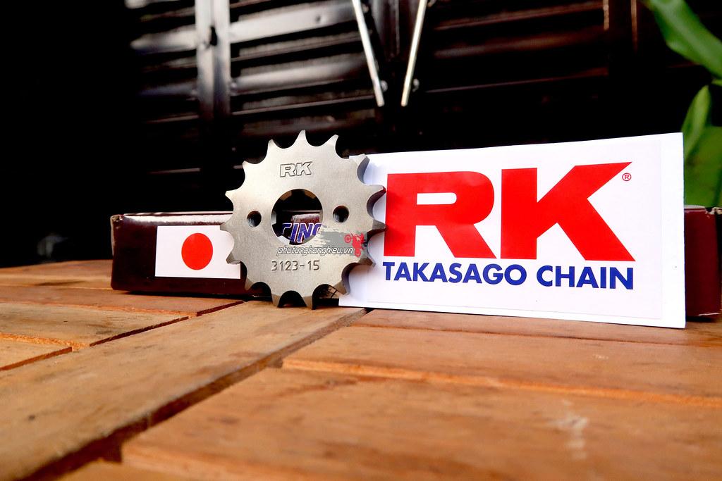 Nhông sên dĩa RK chính hãng cho xe Winner