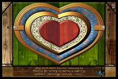 Rustic Hearts 1- a free, safe, downloadable heart card template that prints as a photo