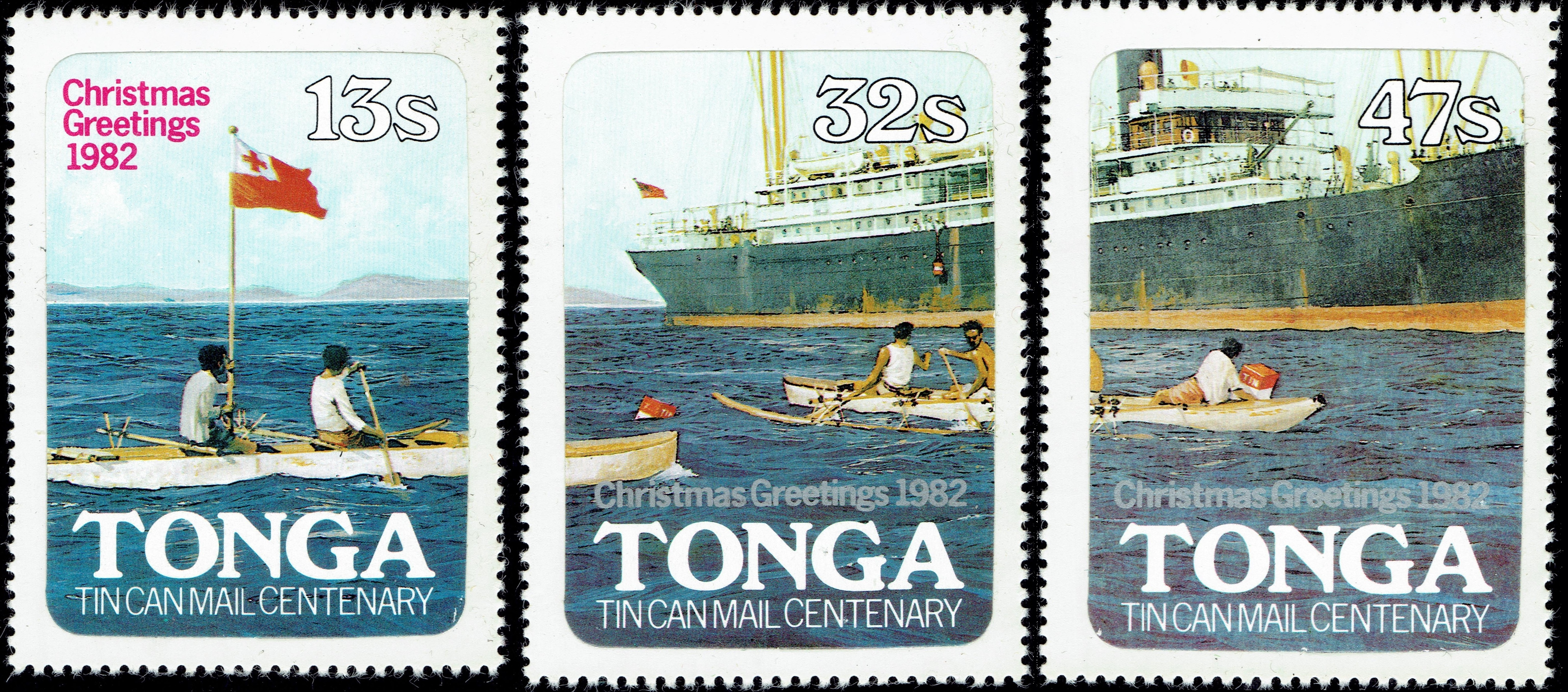 Tonga - Scott #526-528 (1982)